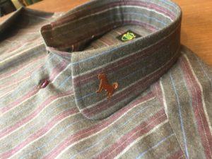 オーダーシャツ 刺繍 犬