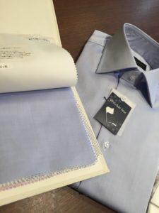 ブルー シャツ 形態安定