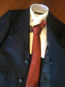 入園式 レッド ネクタイ