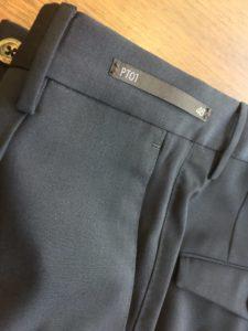 イタリア高級ブランドのPT01の、遊び心満載のオシャレなスラックスの持ち込み裾上げ修理・リフォーム事例