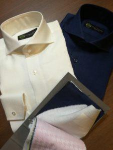 ご注文頂いたイージーケアのリネンのシャツが出来上がってまいりました!