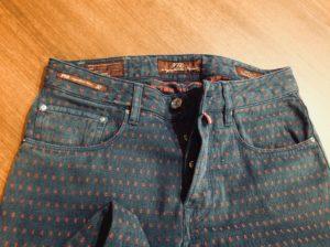PT05のカジュアルパンツの裾上げ修理。