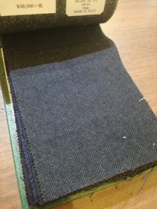 ポケット沢山のサファリジャケット風にオーダーしたくなるジャケット生地。横浜オーダー専門店