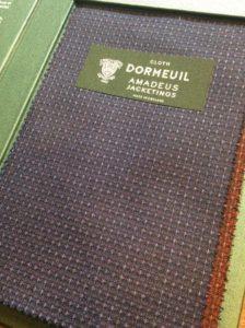 DOMEUIL(ドーメル)のジャケット専用生地見本のご紹介です。