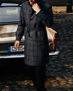 コートの新パターン「ベルテッドコート」のご紹介です。
