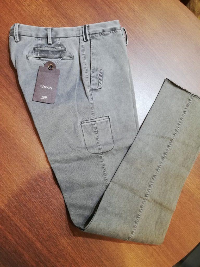 PT01のゴルフパンツの裾上げ(丈詰めリフォーム)。シリーズ「Green(グリーン)」