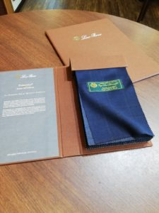 イタリア製高級生地 Loro Piana(ロロピアーナ)の2019年新作のスーツ生地 TASMANIAN(タスマニアン)