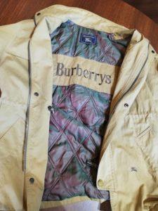 バーバーリーのブルゾンの袖丈詰めリフォーム