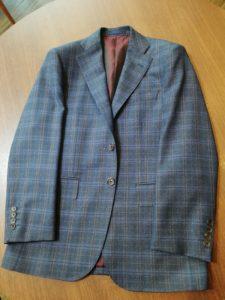 オーダースーツ事例。ベルギーの高級生地ブランド「スキャバル」でオーダー価格163,000円+税のケース。横浜ナガサカで安くてオススメの生地