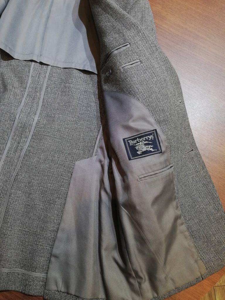 バーバリーのスーツ。洋服リフォーム事例