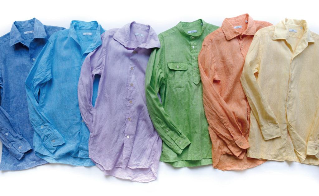 横浜オーダースーツのナガサカで、リネン(麻)のオーダーシャツが作れます!梅雨時期、夏にオススメです!