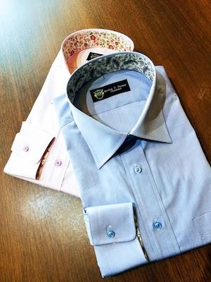 遊び心満載のオーダーシャツ。普通のシャツではつまらない、という方におすすめのオプション