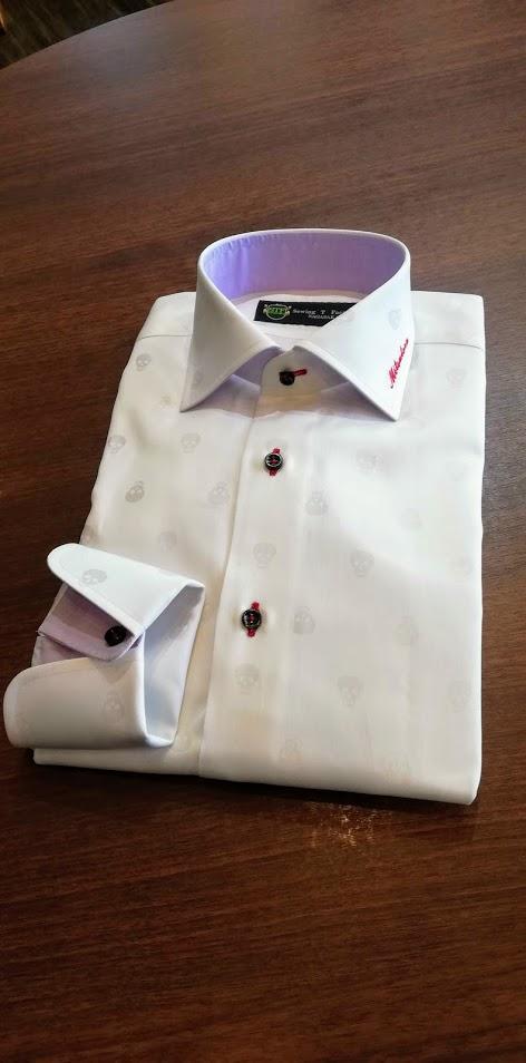 ドクロ柄のデコラティブなオーダーシャツのご紹介